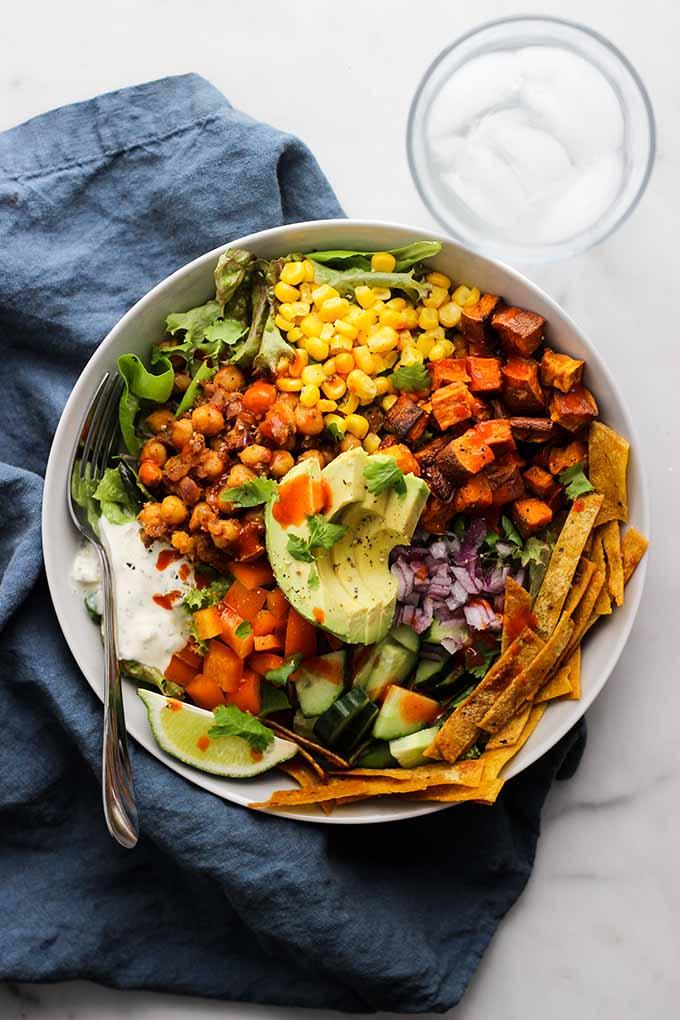 Chickpea Taco Salad | Vegan, Easy