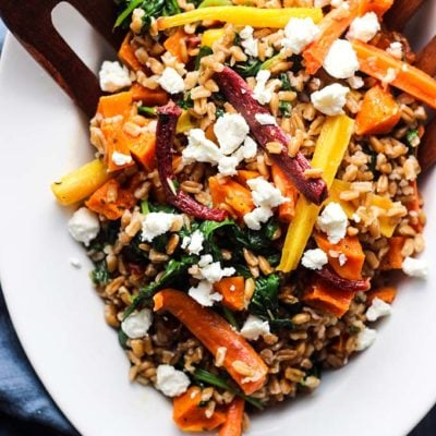 Warm Farro Salad with Roasted Root Vegetables