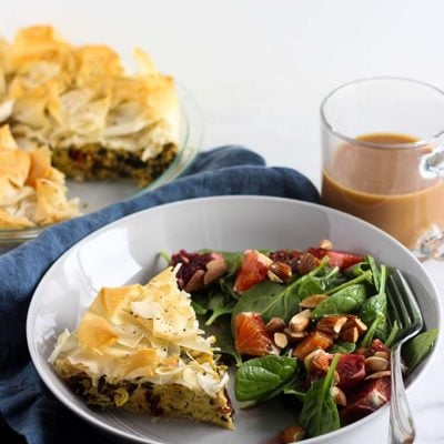 Vegan Quiche with Kale, Tomato, and Artichoke