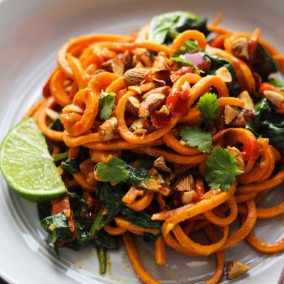 Spicy Asian Style Sweet Potato Noodles