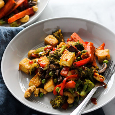 Vegan Tofu Vegetable Stir Fry