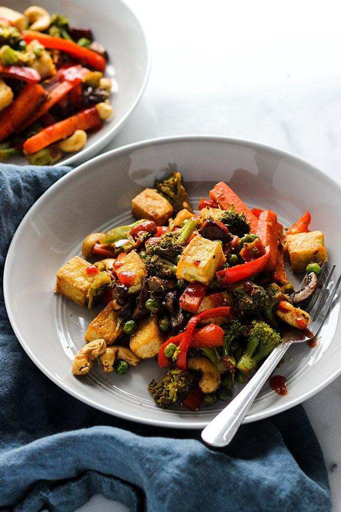 Tofu Vegetable Stir Fry