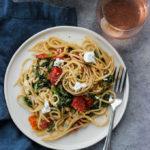 Burst Tomato and Spinach Pasta