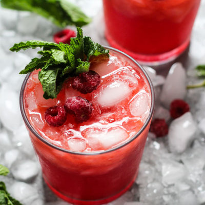 Ginger Raspberry Kombucha Cocktail