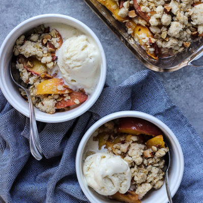 Vegan Ginger Peach Crisp