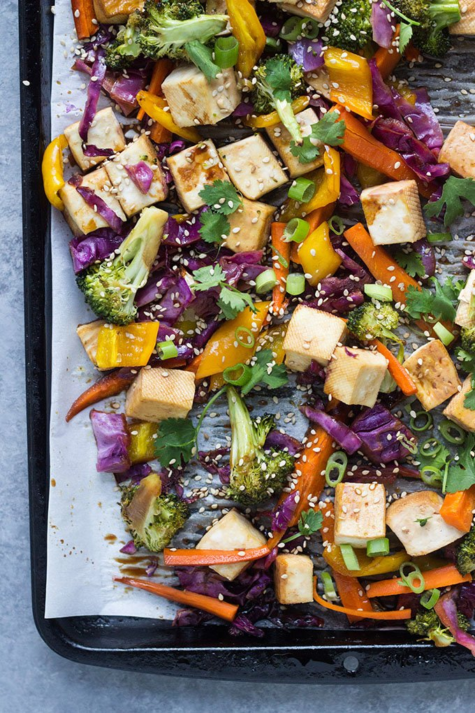 Teriyaki Tofu Sheet Pan Dinner
