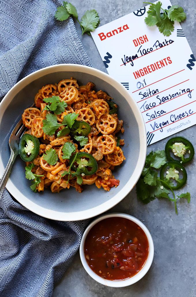 Vegan Taco Pasta   Easy, Weeknight Meal
