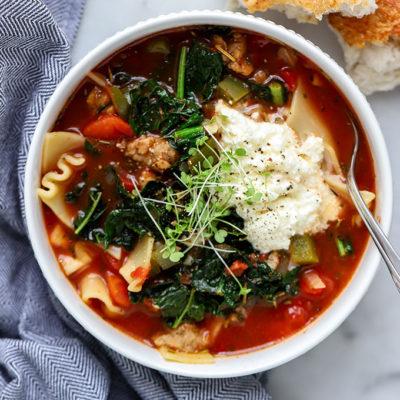 Vegetarian Lasagna Soup