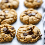 Vegan Almond Butter Chocolate Chip Cookies | These cookies are super delicious and need only 6 ingredients to make now!