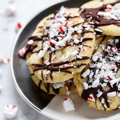 Vegan Peppermint Sugar Cookies