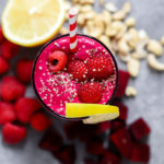 #ad Raspberry Beet and Lemon Smoothie | A healthy breakfast smoothie to start your day off right. #sharethesunshine