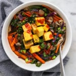 Vegan Ramen Soup with Crispy Tofu