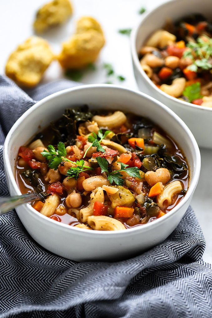 Crockpot Vegan Minestrone Soup