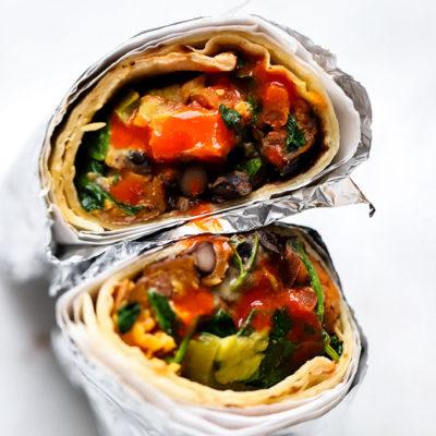 Vegetarian Black Bean Sweet Potato Burrito