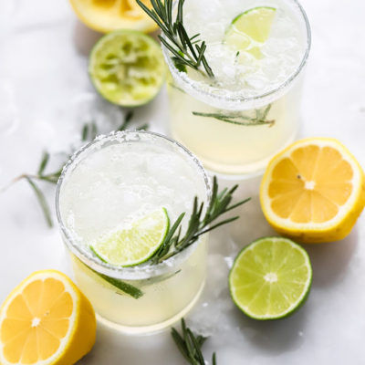 Simple Healthy Rosemary Margarita