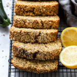 Lemon Poppyseed Zucchini Bread   A simple, quick bread recipe that is easy to whip up and makes a delicious snack paired with a cup of coffee. #bread #zucchinibread #recipe