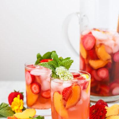 Strawberry Peach Rosé Sangria
