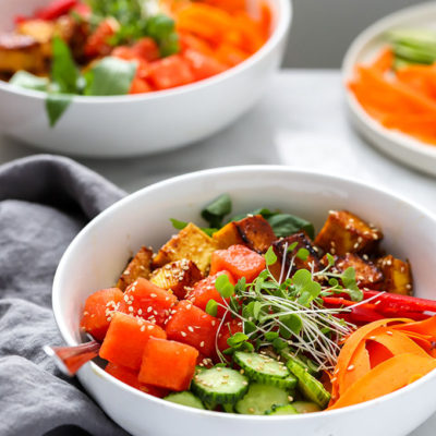 Vegan Watermelon Poke Bowl