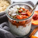 Simple Peach Compote with Overnight Oats