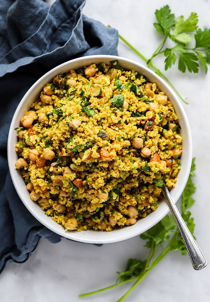 Simple Curry Spiced Quinoa