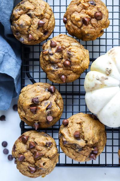 Vegan Pumpkin Chocolate Chip Muffins 2