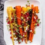 Rosemary Roasted Carrots   A simple but gorgeous side dish that is perfect for Thanksgiving!