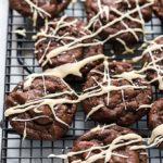 Chocolate Cookies with Coffee Glaze