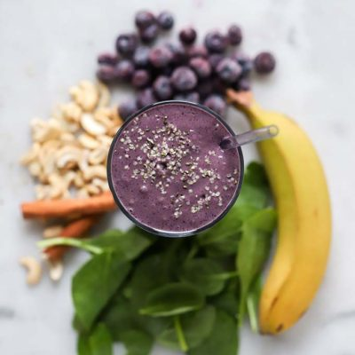 Blueberry Cashew Smoothie