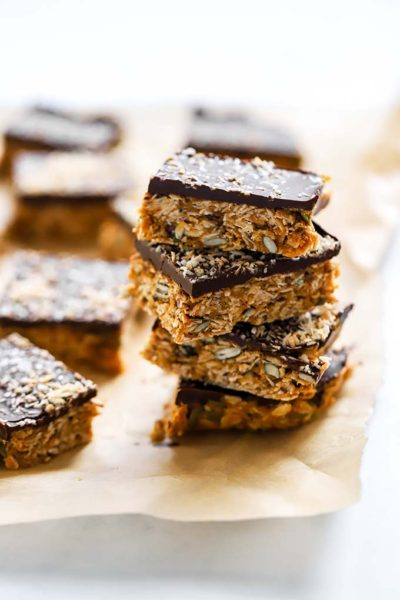 No Bake Chocolate Peanut Butter Oat Bars 2