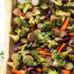 Sheet Pan Vegan Sausage and Veggies with Pesto