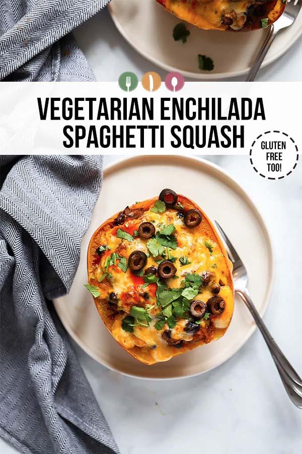 Vegetarian Enchilada Spaghetti Squash