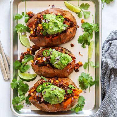 Vegan Loaded Sweet Potatoes