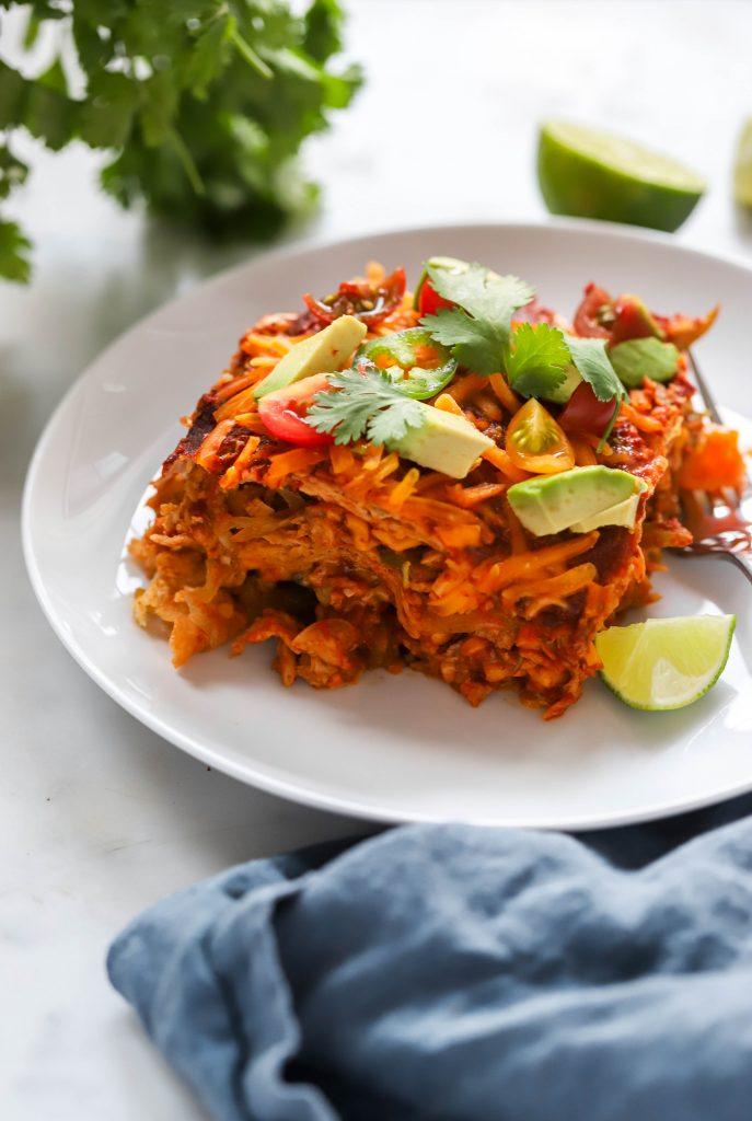 easy vegan enchilada casserole