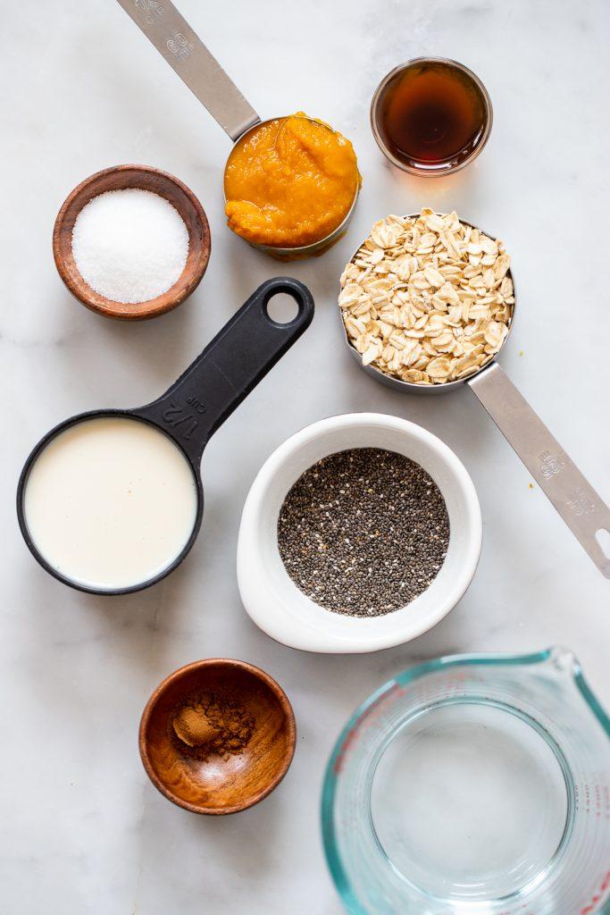 healthy pumpkin oatmeal ingredients