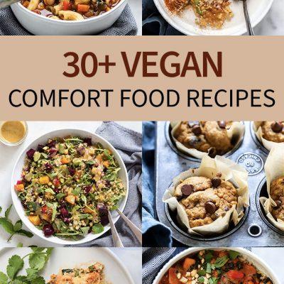 30+ vegan comfort food recipes collage
